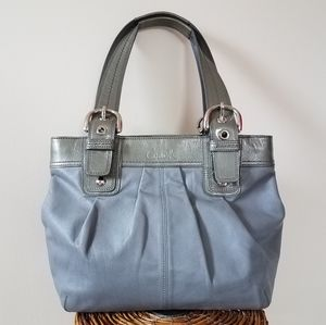 💥Coach Leather Soho Bag Leather Tote Gray